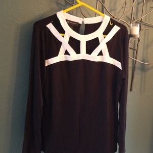 Inc caged top size large never worn